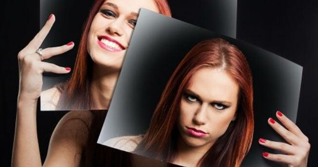 mutlu ve mutsuz kadın fotoğrafı