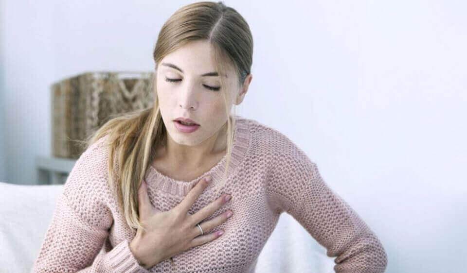 nefes alamayan kadın