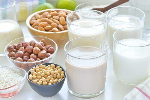 süt ürünleri ve çeşitli kuruyemişler