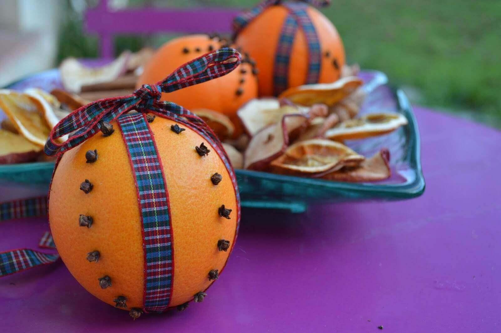 portakal kabuğu ile dekorasyon