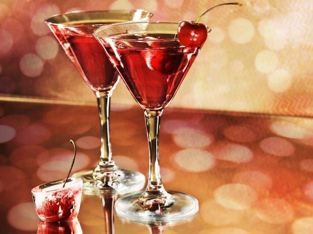buzlu kirazlı alkol