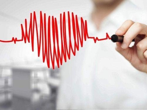 kalp atışlarından çizilmiş kalp