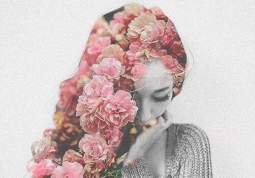 çiçeklerden saç
