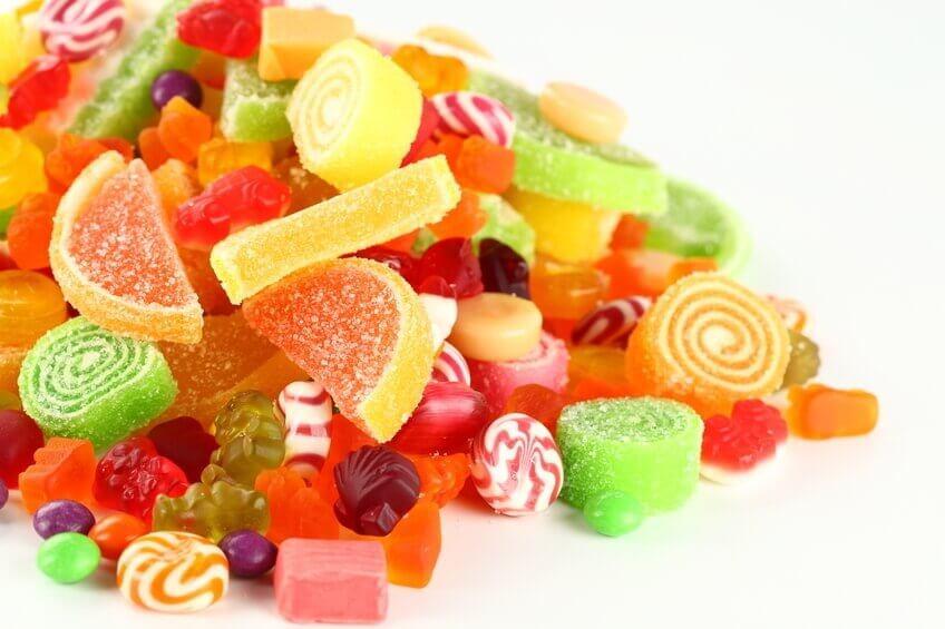 rengarenk jelibon ve şekerlemeler