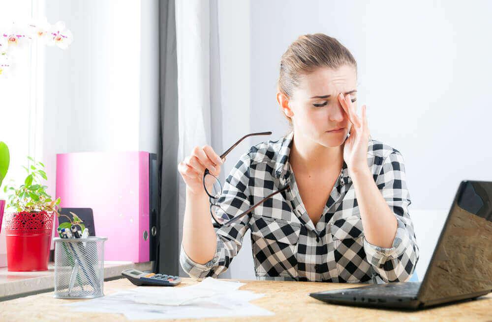 stresli kadın