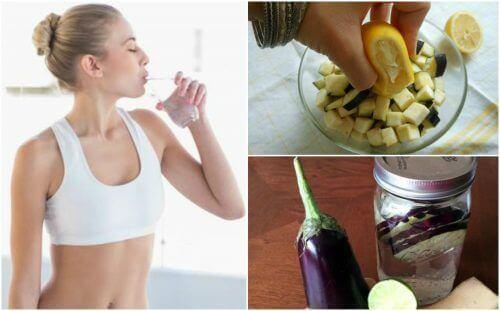 Kilo Verdiren Limon Ve Patlıcan Suyu Nasıl Hazırlanır