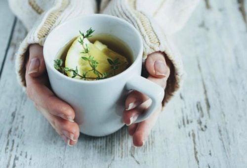 ılık limonlu çay