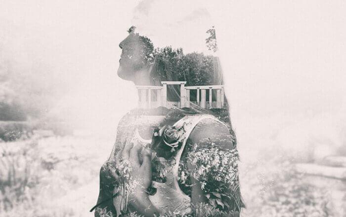 orman ve kadın