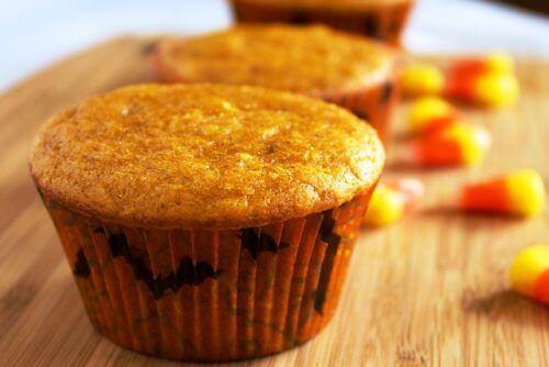 cadılar bayramı temalı minik kek