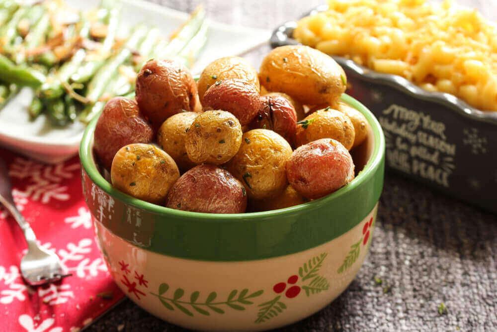 bir kase minik patates