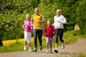 spor yapan aile