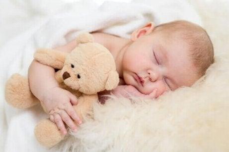 bebek ve ayıcığı