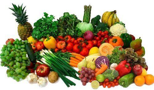 vitamin dolu meyve ve sebzeler