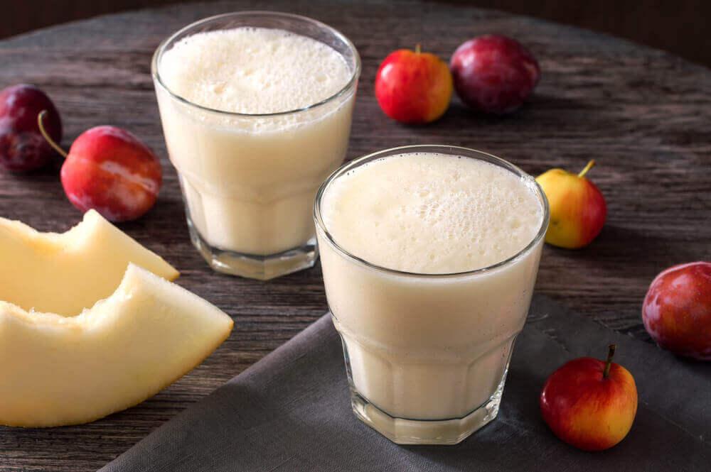 beyaz kavunlu smoothie