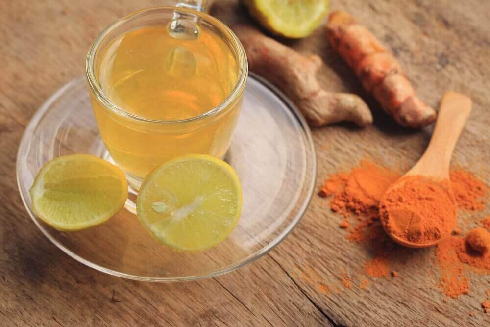 zerdeçal zencefil limon çayı