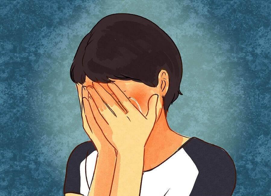 ağlayan kadın resmi