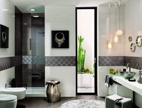 temiz banyo dekorasyonu