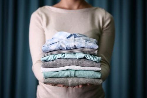 katlanmış çamaşırlar