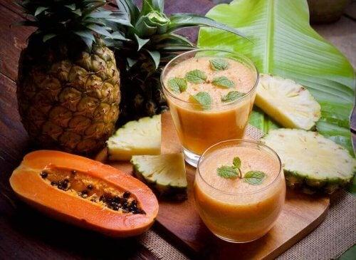 papaya ve ananas