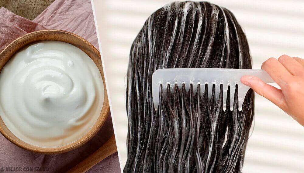 saçlar için mayonez maskesi