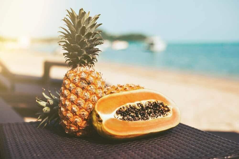 sahilde tropik meyveler