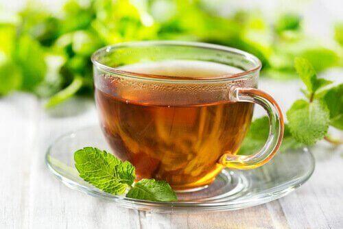 bir bardak naneli çay