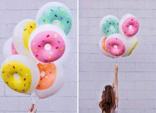 donut şeklinde balonlar