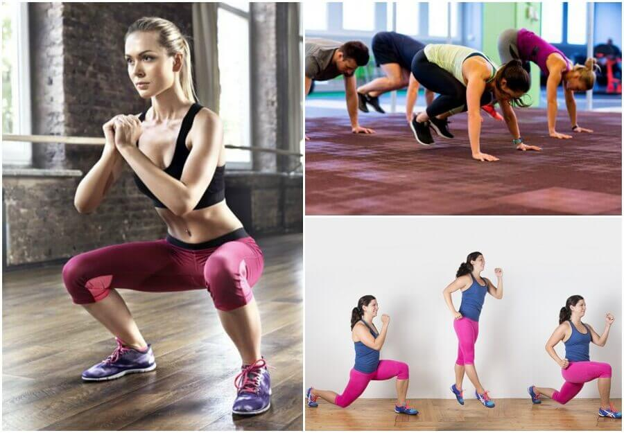 egzersiz yapan insanlar