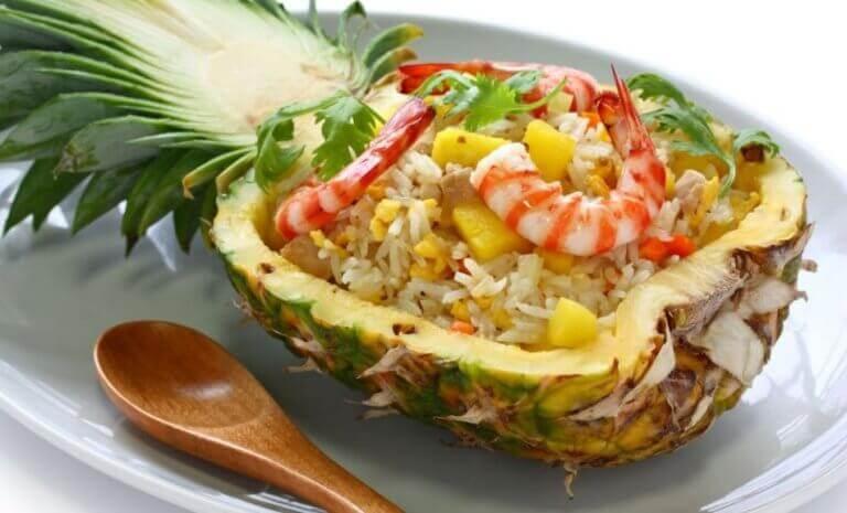 karidesli ananas salatası