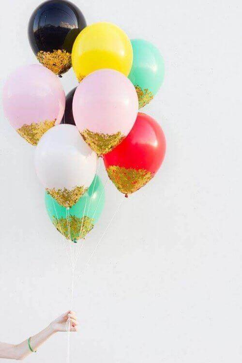 parıltılı balonlar