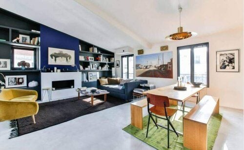 renkli minimalist salon