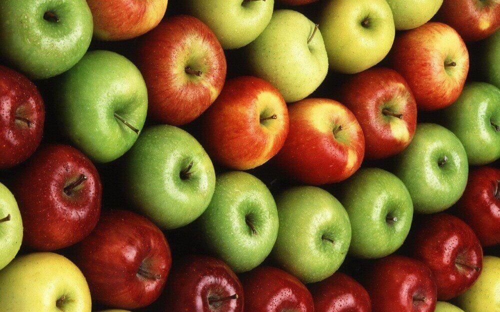 kırmızı yeşil elmalar