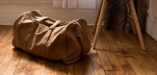 elde taşınan spor çantası benzeri valiz