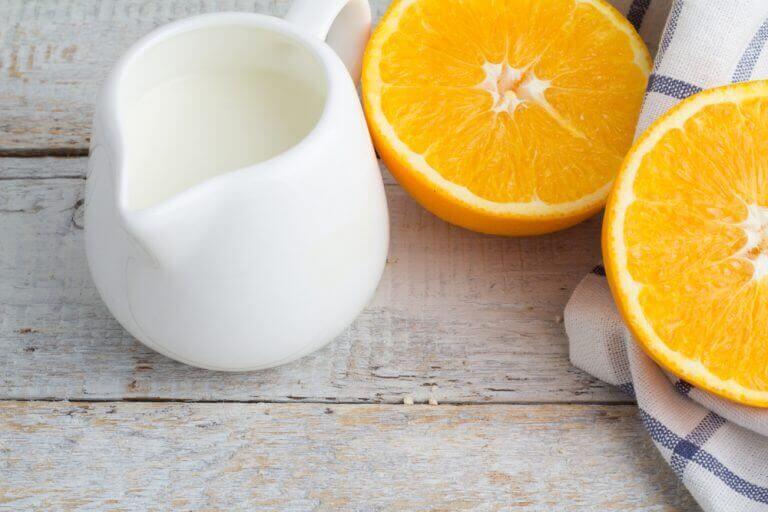 portakal kabuğu ve süt
