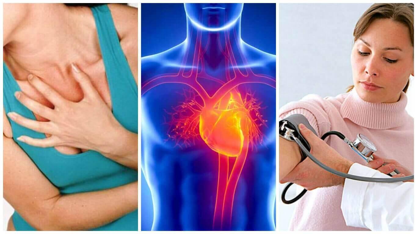 kalp sıkışması tansiyonu ölçülen kadın