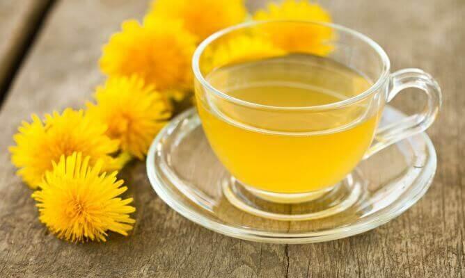 karahindiba çiçekleri ve çayı