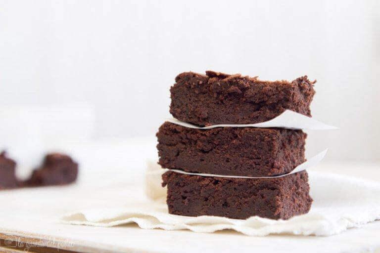 şekersiz brownie