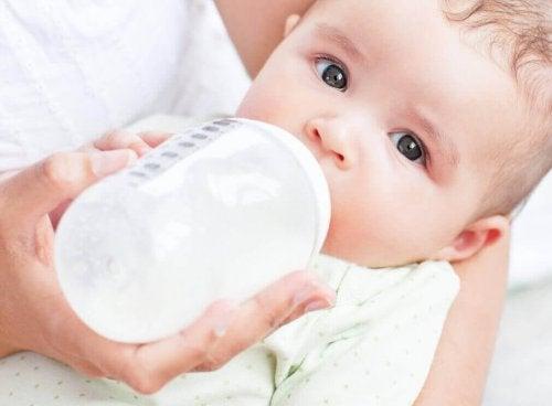 süt biberon bebek