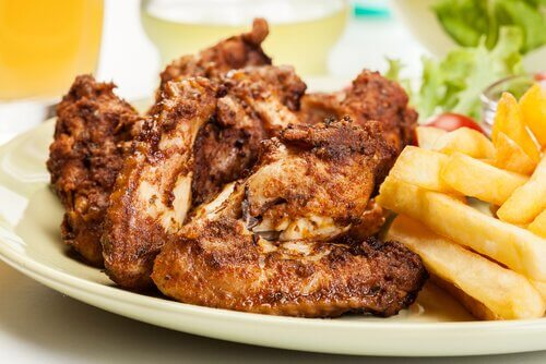 tavuk kanadı kızarmış patates