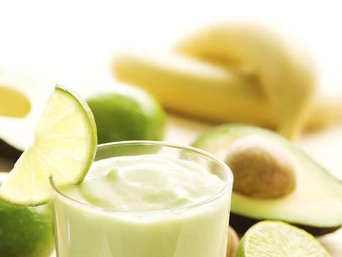 muz, misket limonu ve avokado