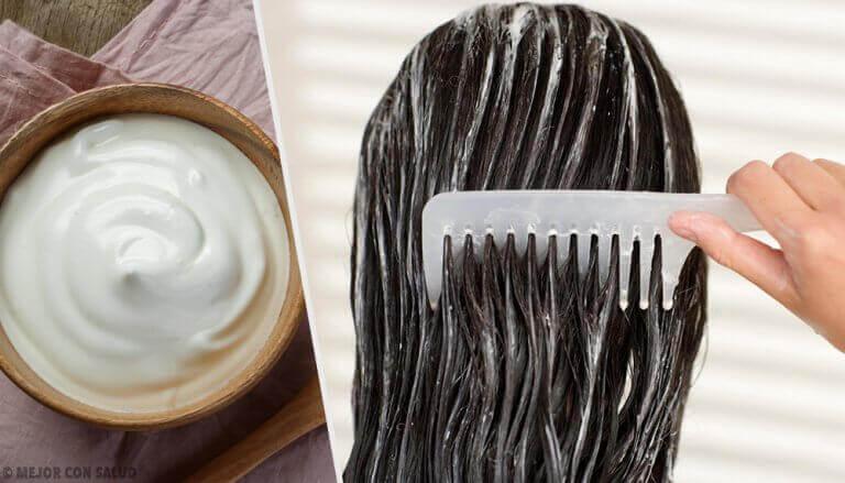 Güzel Saçlar için Mayonez Maskesi