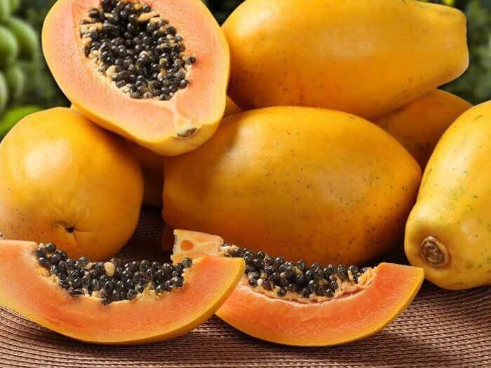 bir sürü papaya