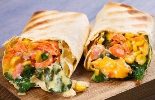 süt mısırlı burrito