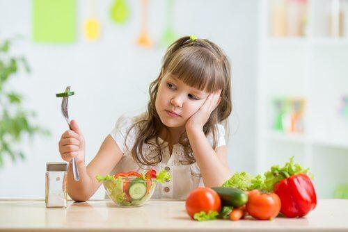 sebze yemeyen çocuk