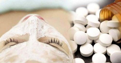 aspirinler yüz maskesi