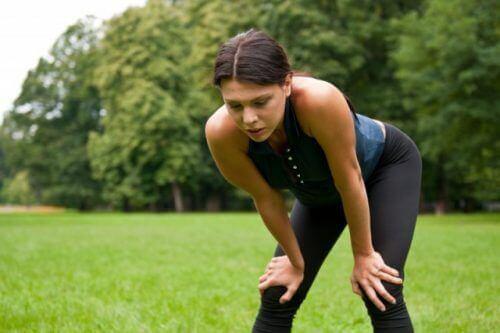 sporda yorulan kadın
