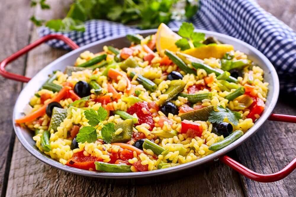 Düşük Kalorili Vejetaryen Paella Nasıl Yapılır