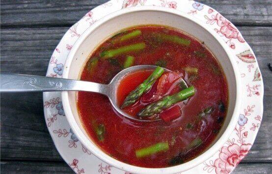 kuşkonmazlı çorba
