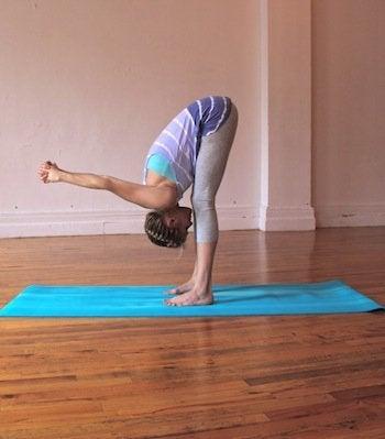 öne eğilme yoga