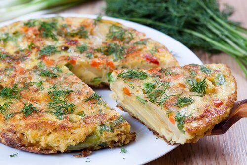 sebzeli patatesli ispanyol tortilla